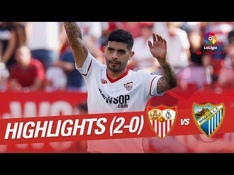 Resumen De Sevilla FC Vs Málaga CF (2-0)