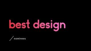 Best Art Design 2019 | Nominees