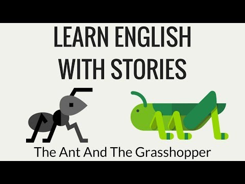 Reading English Stories | The Ant And The Grasshopper | English Stories With Morals