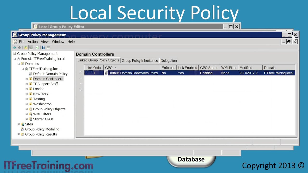 mcitp 70 640 windows security settings and security templates youtube