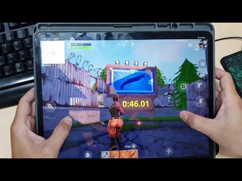 Test Game Fortnite On Apple IPad Pro 12.9 Inch 2018