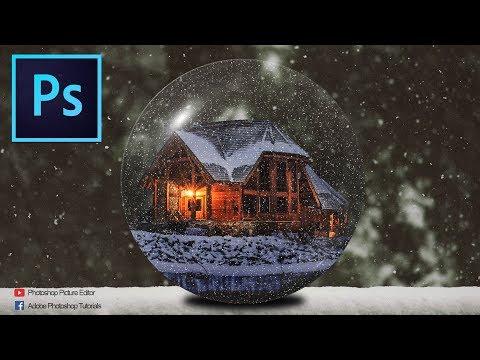 Photoshop Tutorials: Christmas Crystal Ball