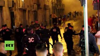 France: English and Russian fans brawl in Marseille