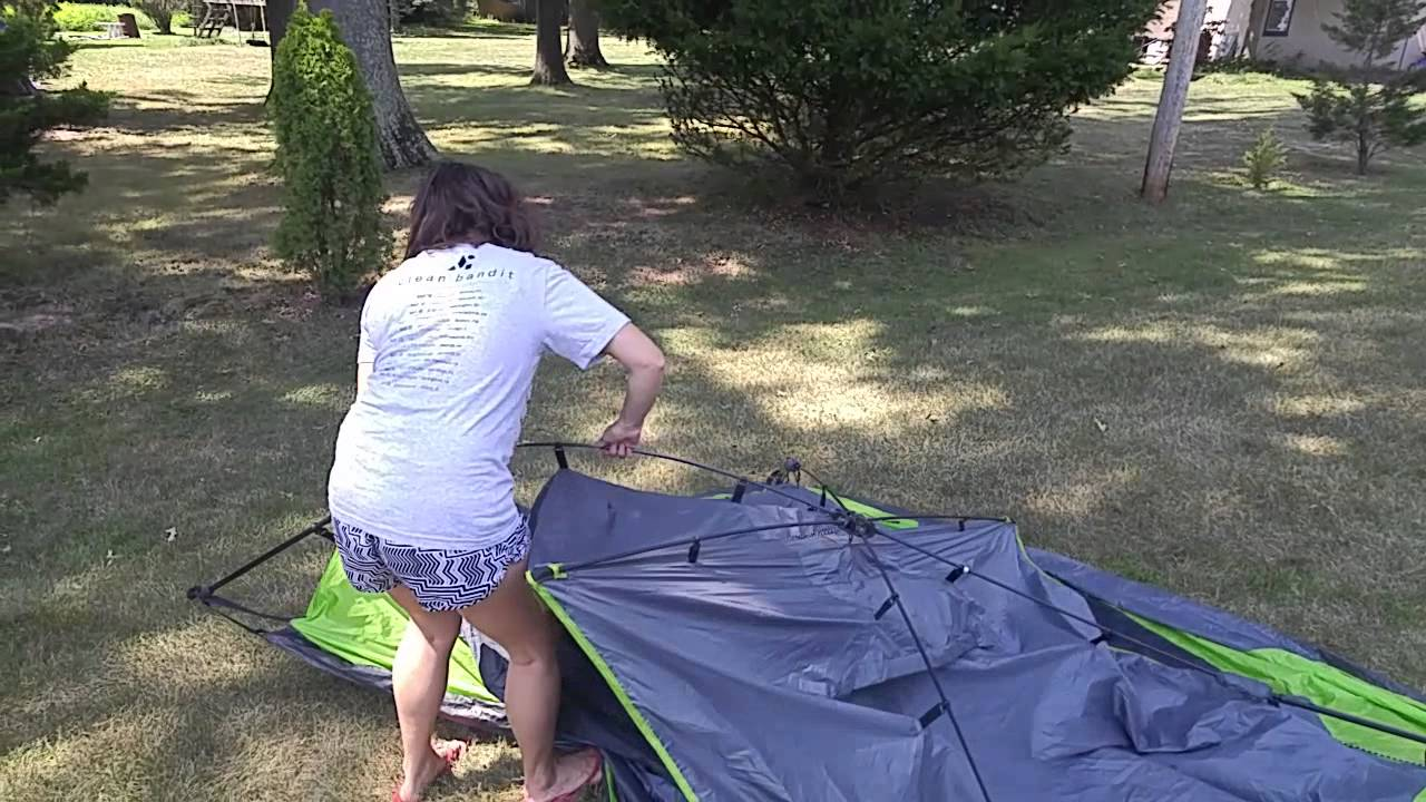 Setup Ozark Trail 4 person instant dome tent & Setup: Ozark Trail 4 person instant dome tent - YouTube