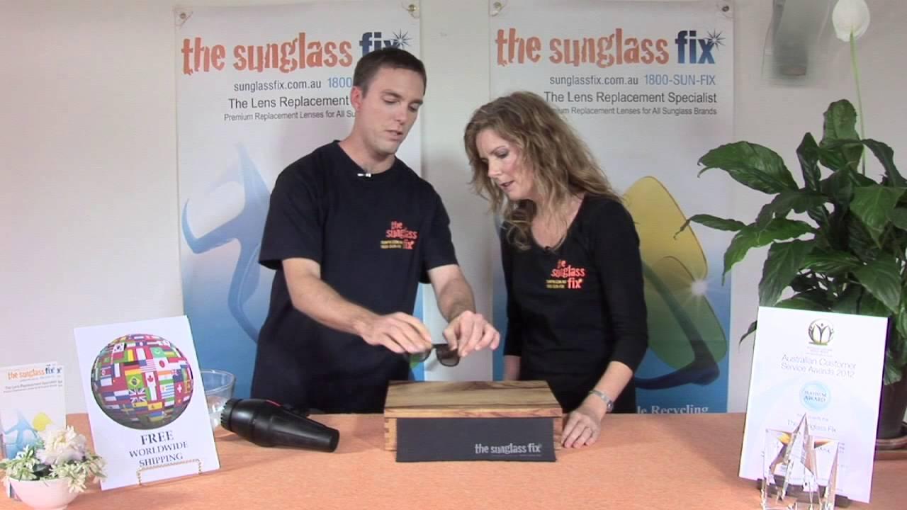 d743f7ca729e How to Adjust Sunglass Frames for a Better Fit - Help Prevent Damaged  Sunglass Lenses - YouTube