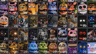 NUEVA ACTUALIZACIÓN DE Ultra Custom Night + De 230 ANIMATRONICOS | FNAF Game ( 230/20 TODOS AL MAX )