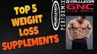 Top 5 Weight Loss Supplements at GNC!