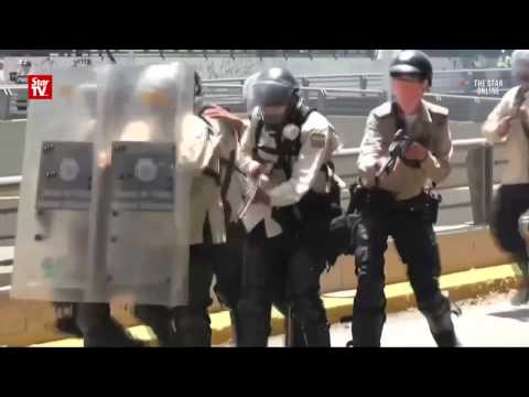 Violent street protest in Venezuela