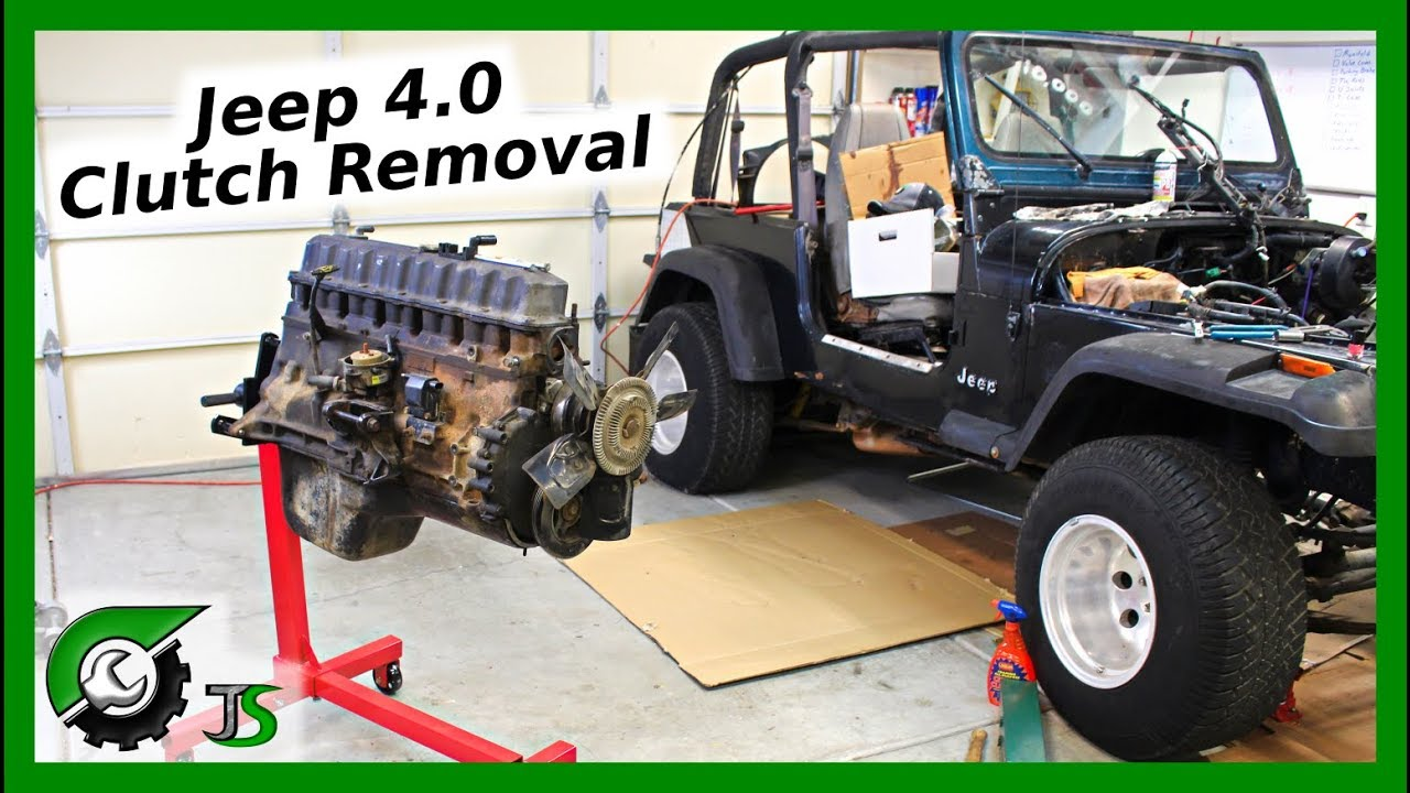 hight resolution of jeep clutch removal 4 0l straight 6 engine youtube mix jeep clutch removal 4 0l straight