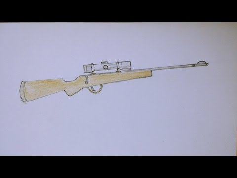 How to Draw Sniper Rifle