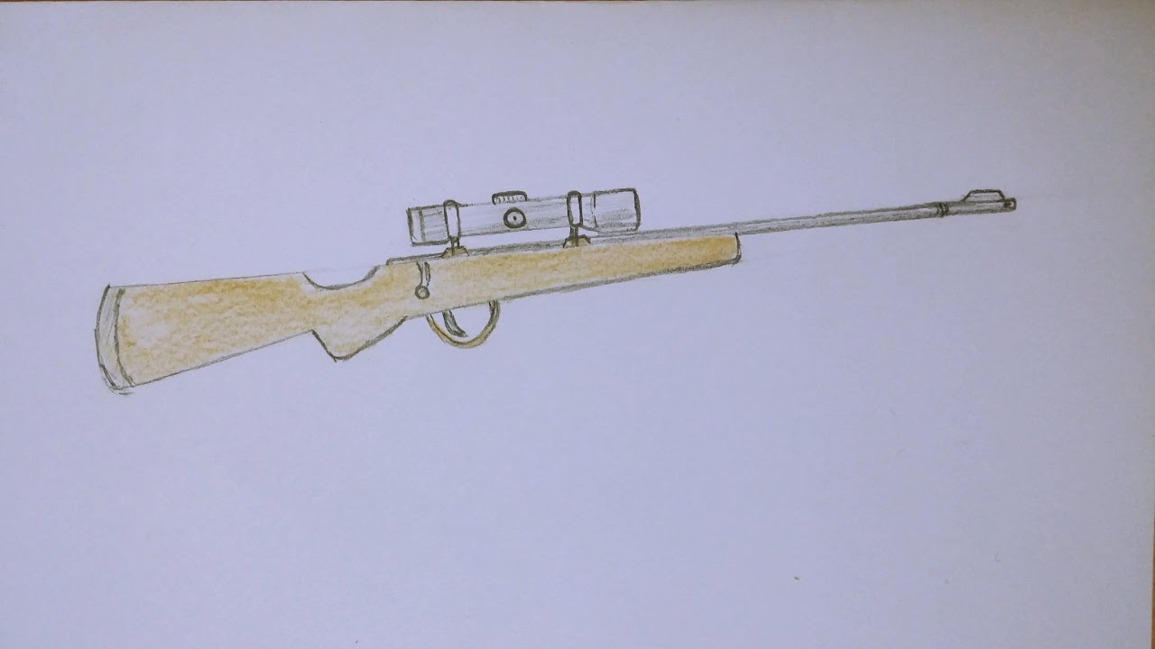 How to draw sniper rifle fantastic drawings