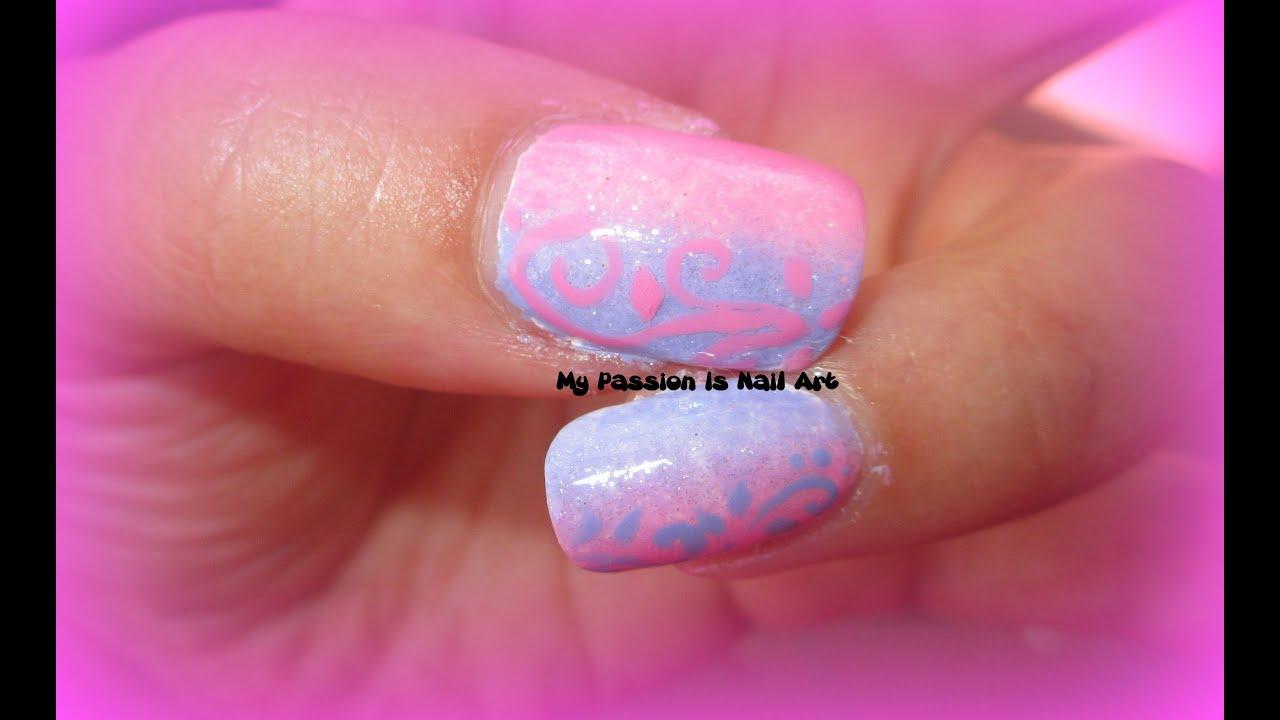 Trend summer 2013:Shade nails with nail polishes - tutorial nail art ...