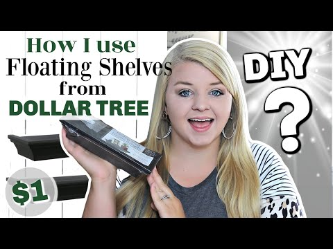 How I Used NEW DOLLAR TREE Floating Shelves | DIY DOLLAR TREE FARMHOUSE HOME DECOR | KraftsbyKatelyn