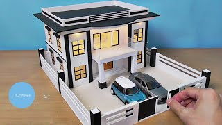 Making A Modern Residential Building Model | Miniature House #22