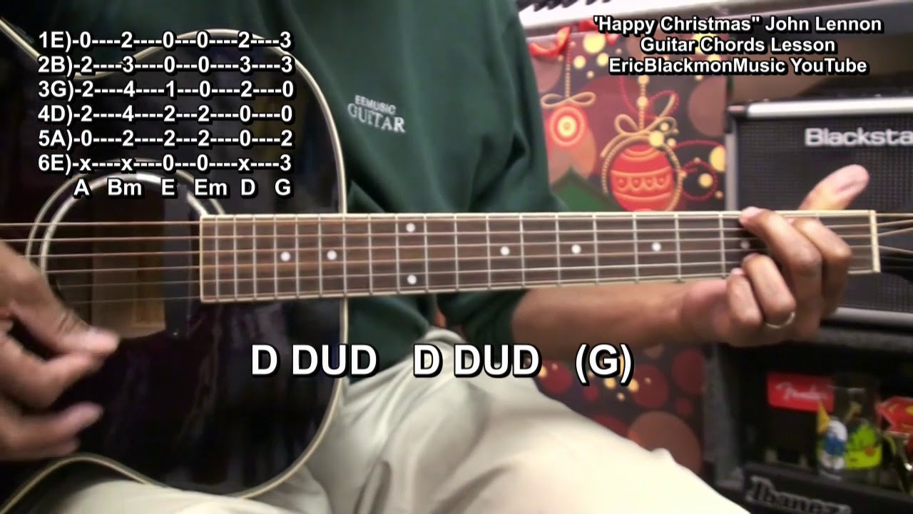 How To Play Happy Christmas The War Is Over John Lennon On Guitar