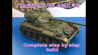 Building the Tamiya 1/35 AMX 13 French light tank easy step by step instructions