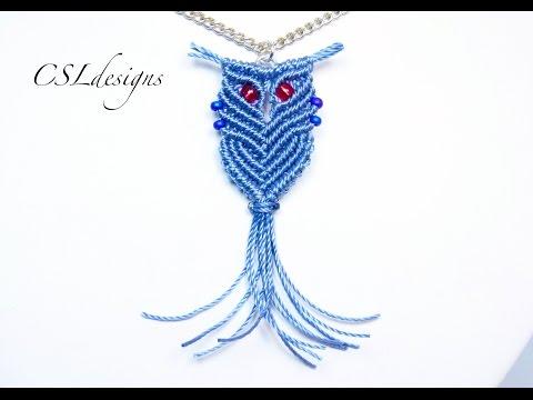 Wise macrame owl
