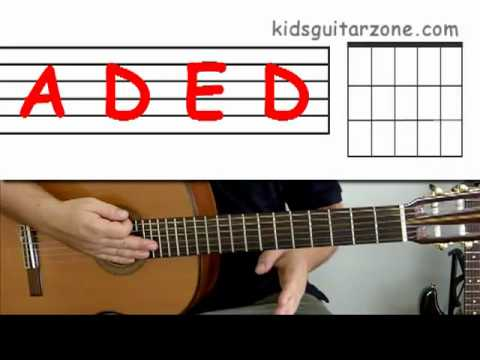 Guitar lesson 7 : Beginner -- How to play \'Wild thing\' with A, E and ...