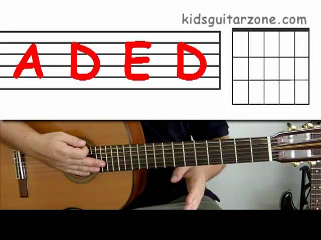 Andrew kidsguitarzone guitar lesson 7 : beginner--how to play \'wild ...