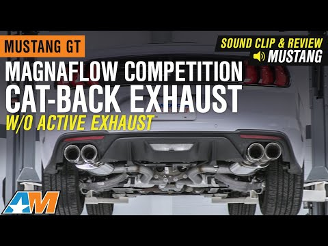 2018-2019 Mustang GT Magnaflow Competition Cat-Back Exhaust Sound Clip & Review