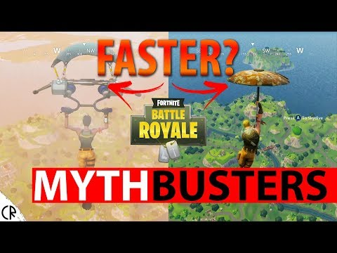 Mythbusters Fortnite Battle Royale - Glider & Umbrella Speed - Epi 3 - Tips & Tricks