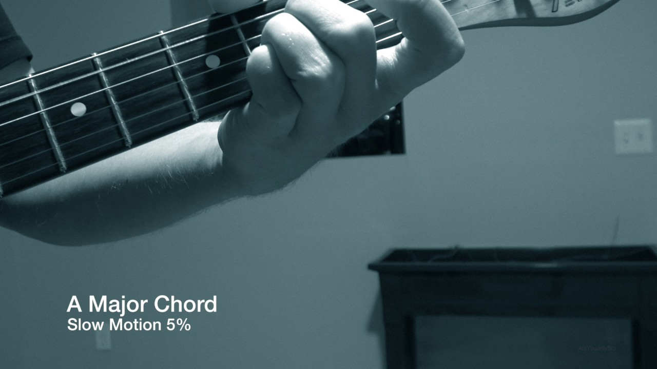 A Major Guitar Chord Played In 5 Slow Motion Really Creepy And