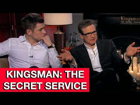 Kingsman The Secret Service Interview - Colin Firth, Taron Egerton & Sophie Cookson