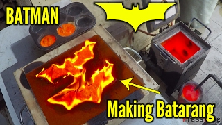 Making 'gold' Batman Batarangs from brass bullet shells