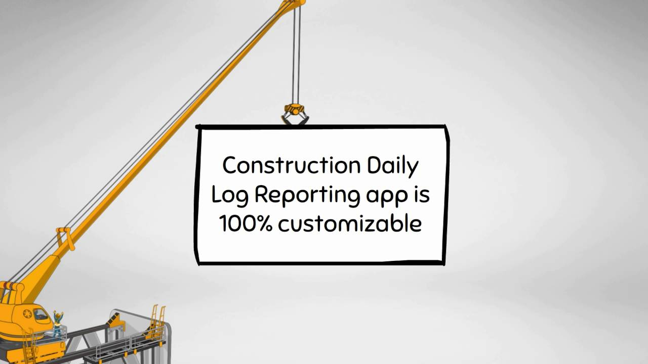 construction daily log reporting app