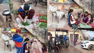 ||🥬Saag Maki di Roti🥞||ਮੰਮੀ ਨੇ ਬਣਾਈ ਮੇਰੇ ਲਈ ਜੈਕਟ||Village life Happy Life||punjabi cooking and punja