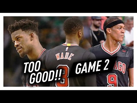 Dwyane Wade, Jimmy Butler & Rajon Rondo Game 2 Highlights vs Celtics 2017 Playoffs - TOO GOOD!