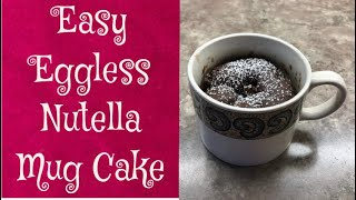 Quick and Easy Eggless Nutella Mug Cake Recipe You Can Make in Your Microwave