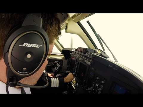 King Air 350 Take off and Landing GoPro with Audio - Amazing