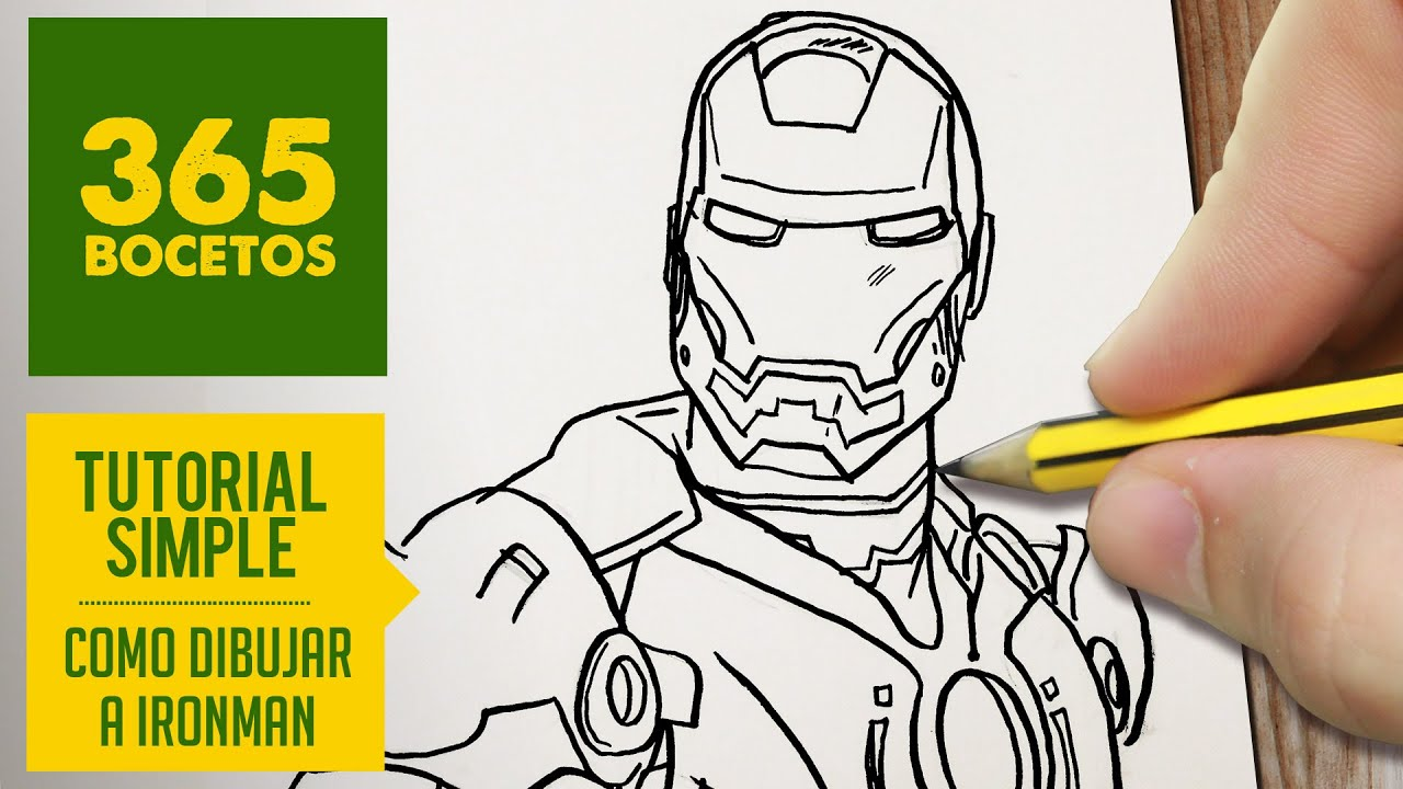 COMO DIBUJAR A IRON MAN PASO A PASO - How to draw a Iron man - YouTube