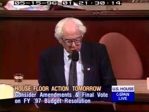 Bernie Sanders: Hypocrisy of the Republican Congress (5/15/1