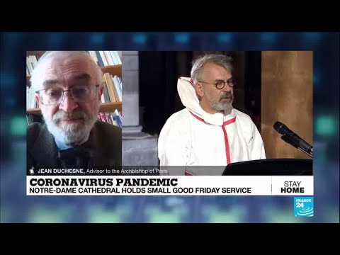 a-year-after-blaze,-notre-dame-cathedral-holds-small-good-friday-service-amid-virus-lockdown