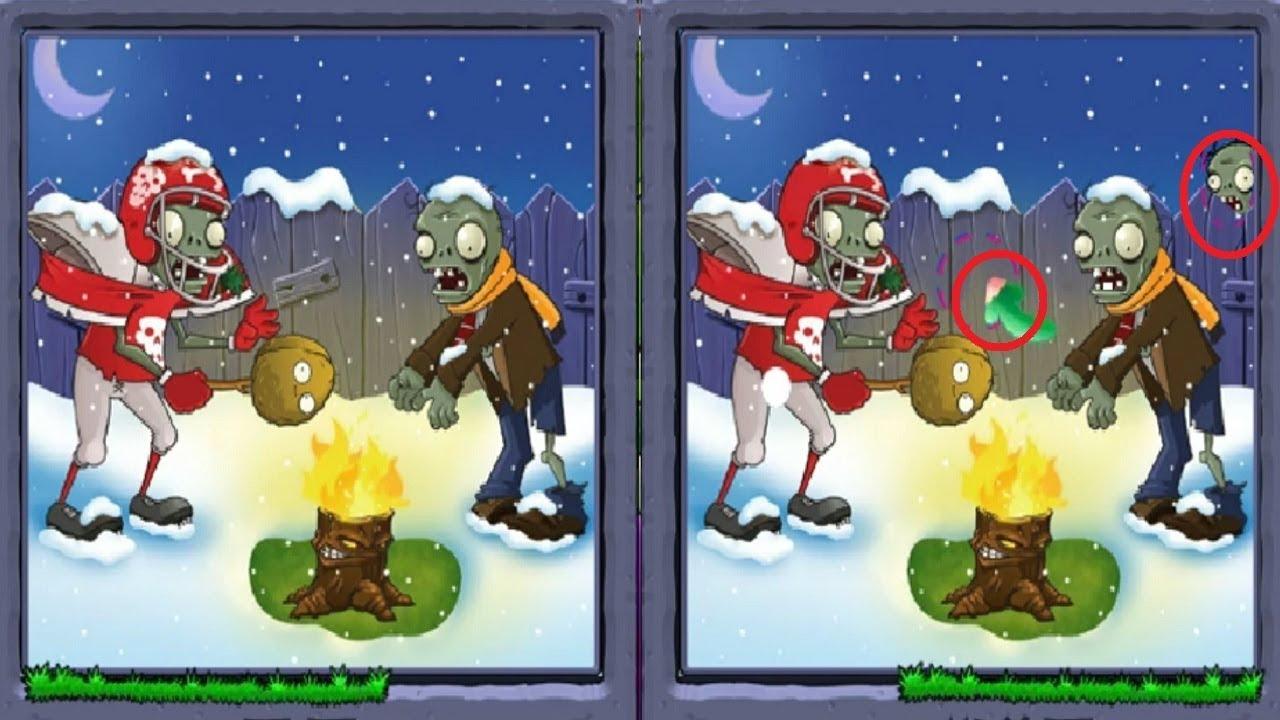 РАСТЕНИЯ ПРОТИВ ЗОМБИ 2 ГОЛОВОЛОМКА ИГРА НАЙДИ ОТЛИЧИЯ  Plants vs Zombies 2