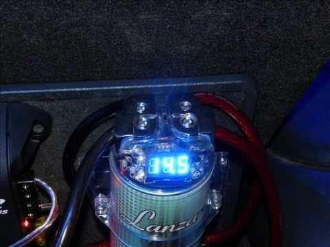 Lanzar Lq19cap 1 9 Farad 12 Volt Power Capacitor