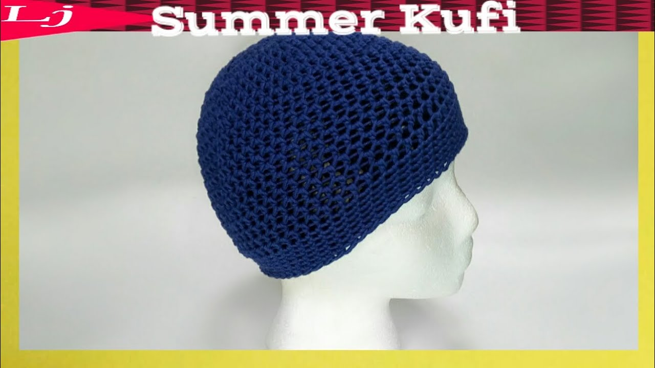Spring crochet cotton beanie - Crochet Kufi Cap - YouTube ca07a9db9cc