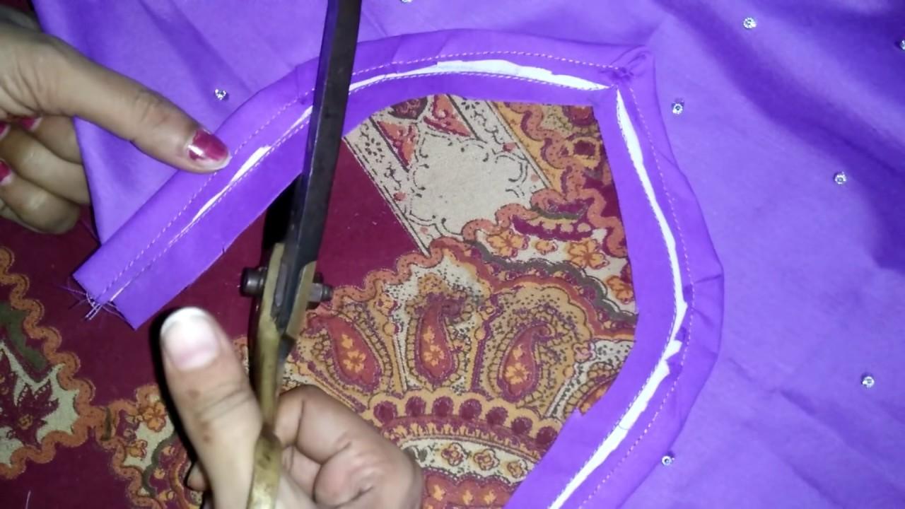 Simple salwar kameez cutting and stitching