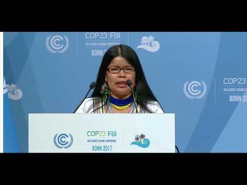Patricia Gualinga of Sarayaku Ecuador Delivers High Level Intervention at COP23 Bonn