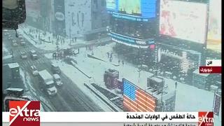 فيديو.. عاصفة ثلجية تضرب شمال الولايات المتحدة الأمريكية
