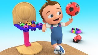 Little Baby Fun Play Learning Colors with Color Balls Wooden Seesaw Toy 3D Kids Learning Educational