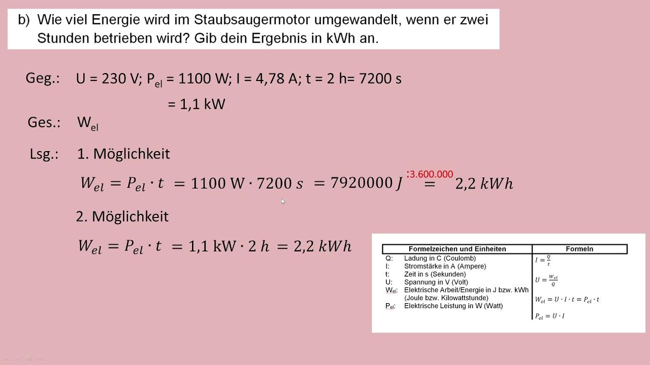 Rechnungen Zu Elektrischen Grossen Blatt 1 Aufgaben 5 7 Youtube