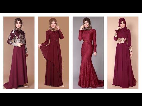 b6aa5d1601f04 Modaselvim 2017 Bordo Renkli Abiye Modelleri - YouTube