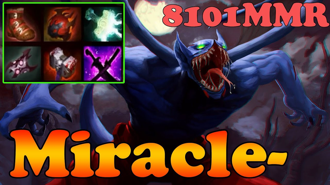 dota 2 miracle 8101mmr top 1 mmr plays night stalker pro armlet