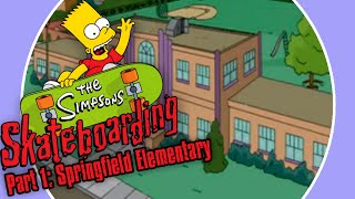 Xin Plays: The Simpsons Skateboarding Part 1: Springfield Elementary