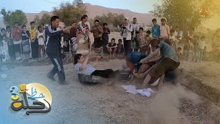 حماس كبير يجبر المذيع على المشاركة في منافسات تحدي الميدان يا حميدان  | رحلة حظ 3