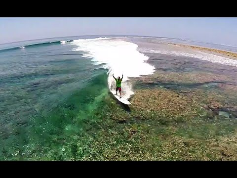 Surfing Blue Bowls, Maldives / DJI Phantom 2 Drone HD