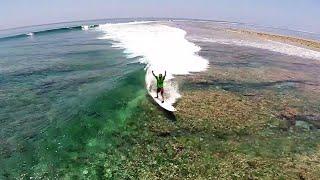 Surfing Blue Bowls, Maldives / DJI Phantom 2 Drone HD